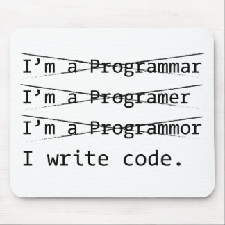 Funny Programmer Mouse Mat