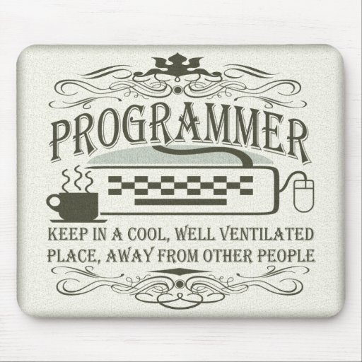 Funny Programmer Mousepad