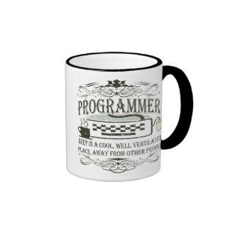 Funny Programmer Ringer Coffee Mug