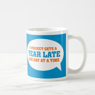 Funny Project Management Saying Late Project Coffee Mug