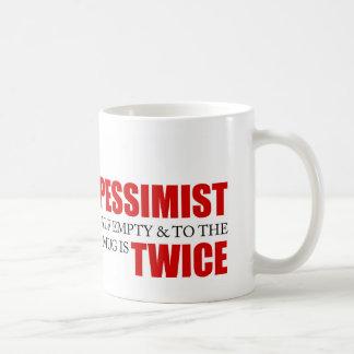 Funny Project Management Saying Optimist Pessimist Coffee Mug
