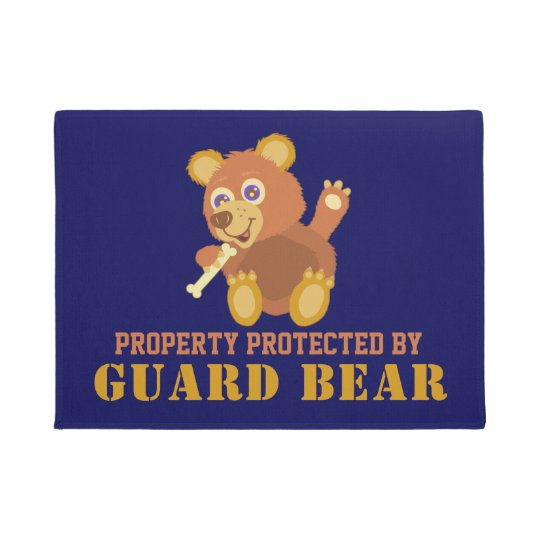 Funny Property Protected By Guard Bear Cute Animal