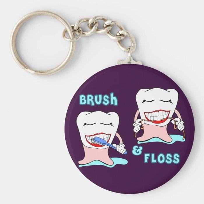 Funny Prosthodontist Apparel Basic Round Button Key Ring