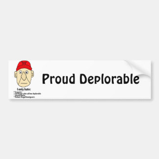 Funny Proud Deplorable Political Cartoon Bumper Sticker
