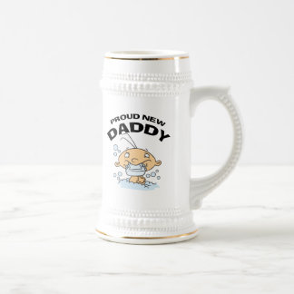 Funny Proud New Daddy Beer Stein