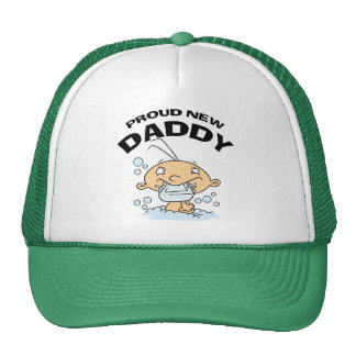Funny Proud New Daddy Mesh Hats