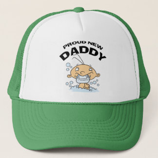 Funny Proud New Daddy Trucker Hat