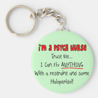 Funny Psych Nurse Gifts Basic Round Button Key Ring