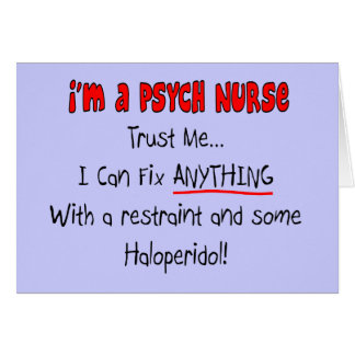 Funny Psych Nurse Gifts Greeting Card