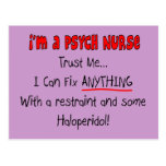Funny Psych Nurse Gifts Post Cards