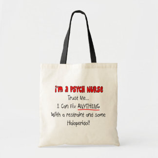 Funny Psych Nurse Gifts Canvas Bags