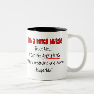 Funny Psych Nurse Gifts Two-Tone Coffee Mug