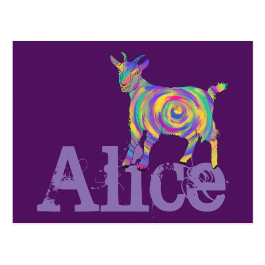 Funny Psychedelic Art Goat Design add Your Name