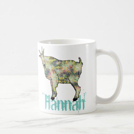 Funny Psychedelic Art Goat Design with Your Name