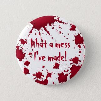 Funny psycho Halloween 6 Cm Round Badge