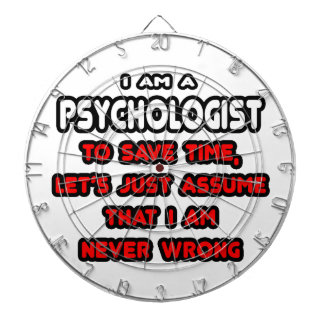 Funny Psychologist T-Shirts and Gifts Dartboards
