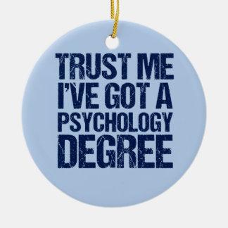 Funny Psychology Graduation Christmas Ornament