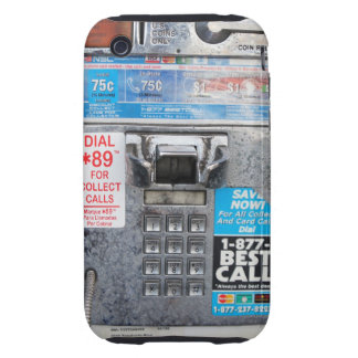Funny Public Pay Phone Booth iPhone 3 Tough Cover