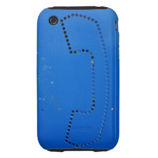 Funny Public Pay Phone Booth Silhouette Tough iPhone 3 Cover