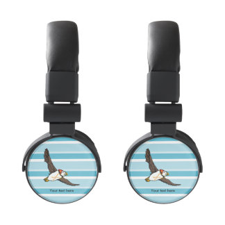 Funny Puffin With A Winter Hat On Headphones