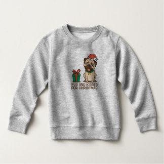 Funny Pug and Kisses Christmas | Sweatshirt