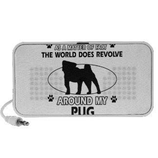 Funny Pug designs Laptop Speakers