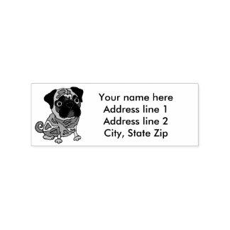 Funny Pug Dog Address Stamp