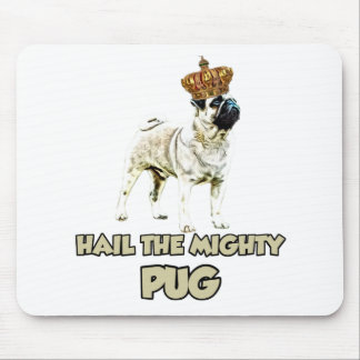Funny Pug dog design Mouse Pad
