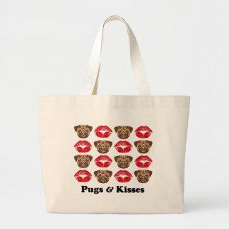 Funny Pug Large Tote Bag