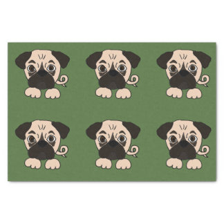 Funny Pug Puppy Dog Tissue Paper