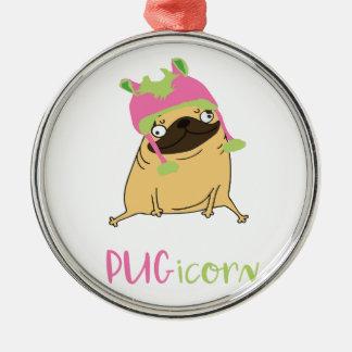 Funny Pugicorn Unicorn Pug Christmas Ornament