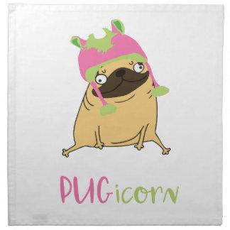 Funny Pugicorn Unicorn Pug Napkin
