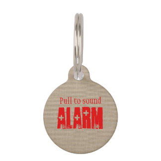 Funny Pull to Sound Alarm Cross Shotgun Pet Tag