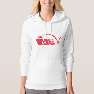 Funny Pullover Hoodie: Beer Pong Master