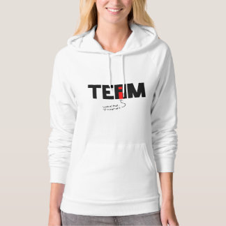 "Funny Pullover Hoodie: No ""I"" in Team?"