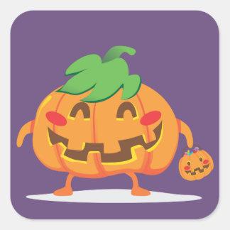 Funny Pumpkin Faces Square Sticker