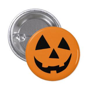 Funny Pumpkin Halloween Orange Pinback Buttons