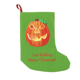 Funny Pumpkin Small Christmas Stocking