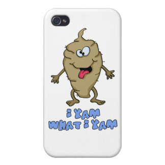 Funny Pun - I Yam What I Yam Cover For iPhone 4