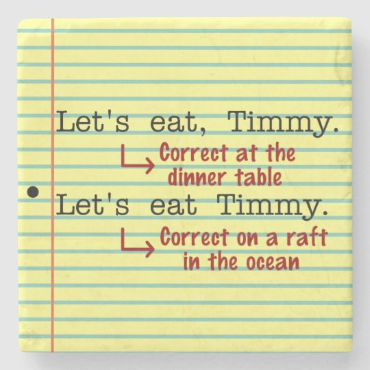 Funny Punctuation Grammar Stone Coaster