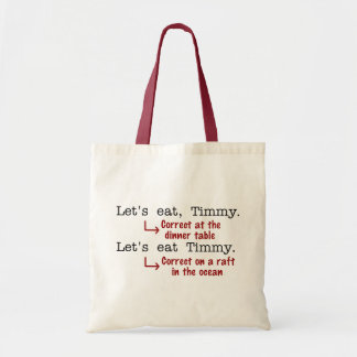 Funny Punctuation Grammar Tote Bag
