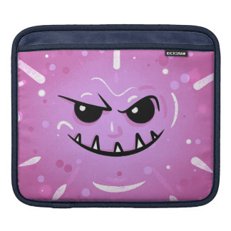 Funny Purple Face with Sneaky Smile iPad Sleeve