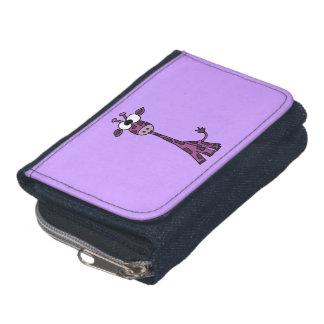 Funny Purple Giraffe Wallet