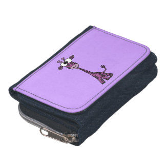 Funny Purple Giraffe Wallets