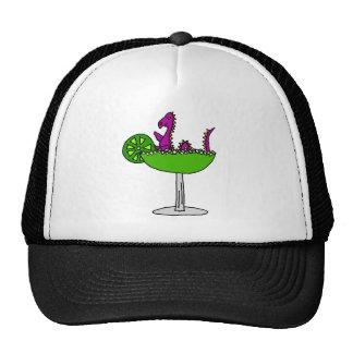 Funny Purple Loch Ness Monster in Margarita Cap