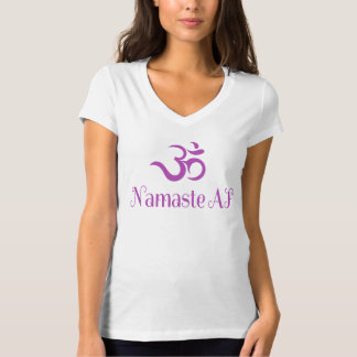 Funny Purple OM Symbol Namaste AF Cool Fun Yoga T-Shirt