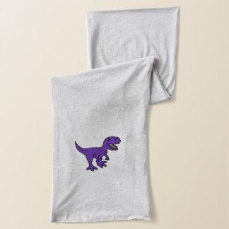 Funny Purple T-Rex Dinosaur Cartoon Scarf