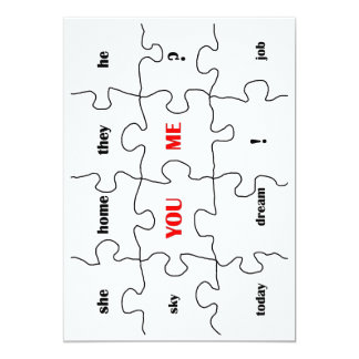 Funny puzzles of my live 13 cm x 18 cm invitation card