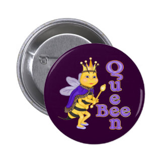 Funny Queen Bee Pinback Button
