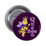 Funny Queen Bee Pinback Buttons